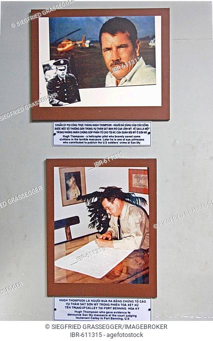 Original photo after the massacre, museum in Son My (My Lai), Vietnam, Asia