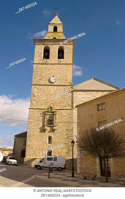 Church. El Bonillo. Ruta de Don Quijote. Albacete province. Spain