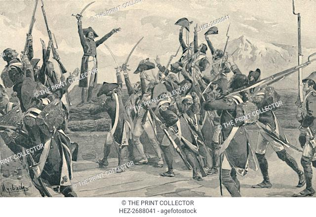 'Rampon's Soldiers Taking The Oath Never To Surrender', 1796, (1896). Artist: Unknown