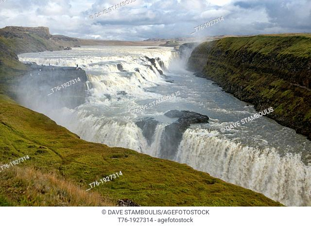 Beautiful Gulfoss waterfall, southwest Iceland