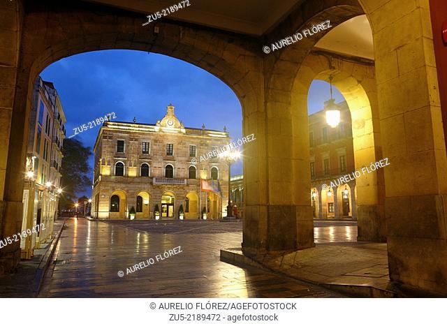 Plaza del Ayuntamiento de Gijón, Asturias, Spain