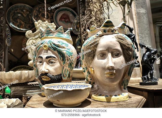 Ceramic Heads, Taormina. Sicily, Italy