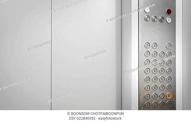 Elevator internal buttons control panel