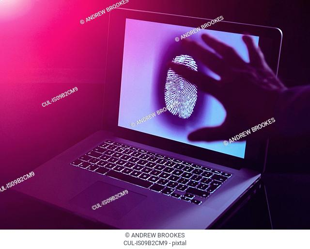 Hand grabbing the personnel identity of somebody online