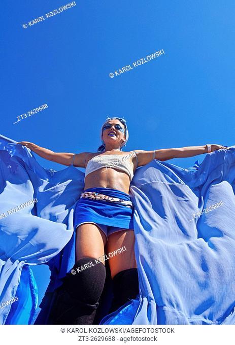 Brazil, State of Rio de Janeiro, City of Rio de Janeiro, Gloria, Bloco Orquestra Voadora Carnival Parade.