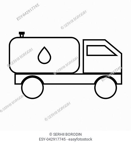 Cistern truck it is black color icon