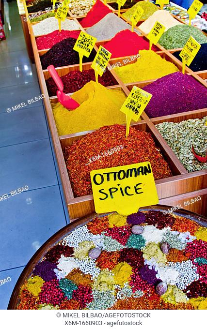 Spices shop  Side  Province of Antalya  Mediterranean coast  Turkey