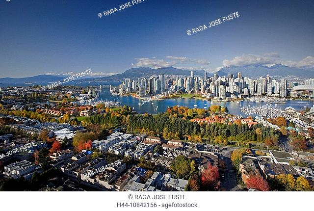 Canada, North America, America, Vancouver City, British Columbia, False Creek, Downtown, North America, skyline, skysc