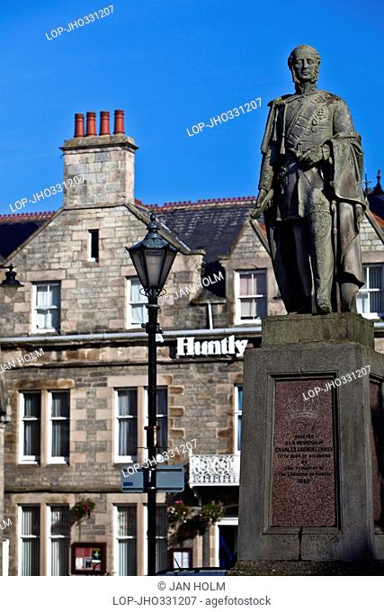 The Lennox Statue in Huntly Town Square