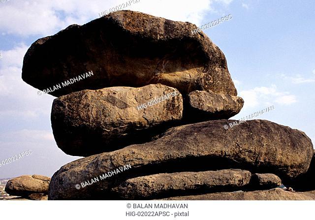 ROCK FORMATIONS NEAR HYDERABAD, ANDHRA PRADESH, INDIA