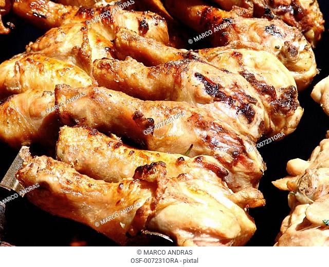 roasted chicken haunch thigh for barbecue