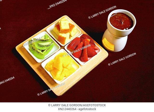 Sushi - Fruit Plate. Honolulu, Hawaii, USA