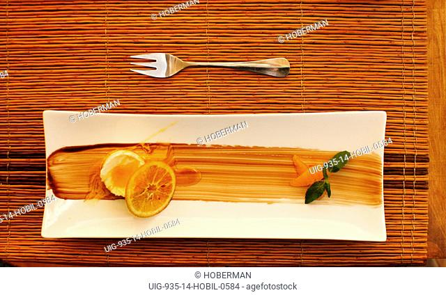 Dessert and Fork on Placemat, Chile
