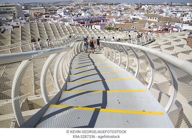 Tourists on Roof, Setas - Metropol Parasol; Seville; Spain