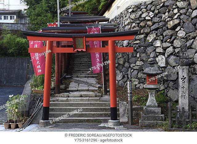 Torii gate at Koyasan, Japan, Asia