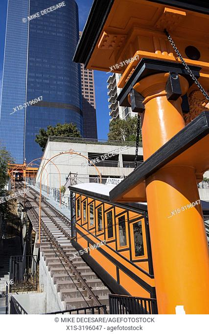 Angel's Flight is a famous narrow guage railway in the Bunker Hill District of Los Angeles, and riders include residents and tourists alike