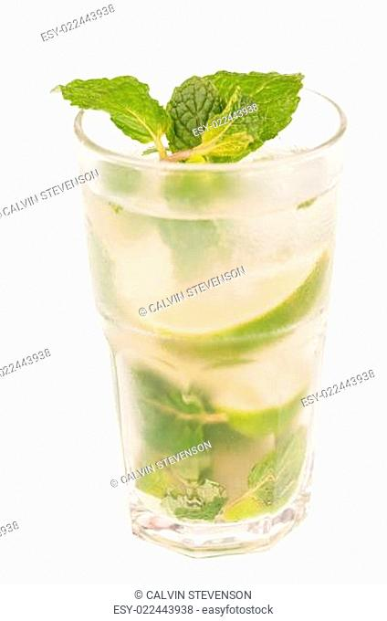 Mojito Cocktail isolated over white background