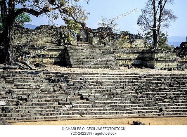 Honduras, Copan Ruins. Temple 22 at Jaguar Place