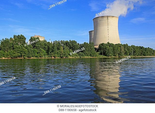 Nuclear power sation  Loire  saint Laurent des Eaux  41 220 Saint-Laurent-Nouan