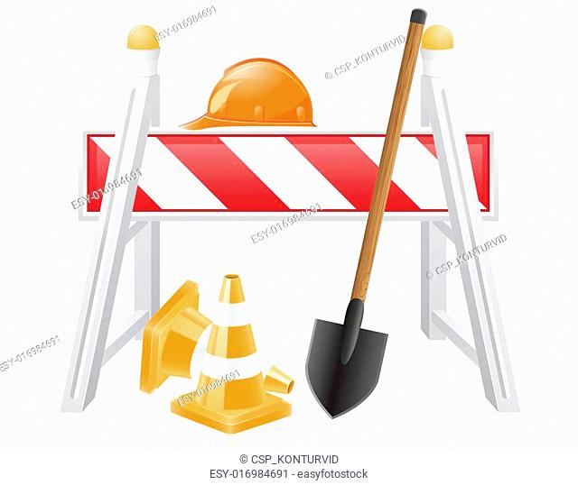 objects for road works vector
