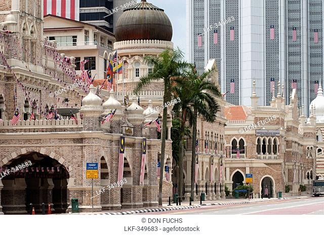 View from Merdeka Square to Sultan Abdul Samad Building, Kuala Lumpur, Malaysia, Asia
