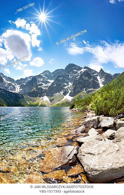 Morskie Oko Lake, Tatra National Park, Poland, Europe