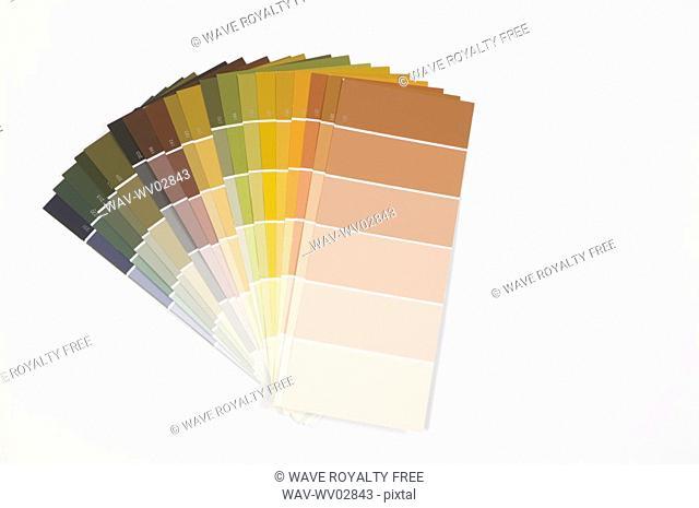 Paint colour swatches, Canada, British Columbia