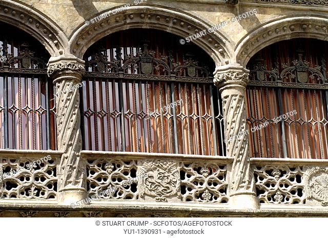 Window detail, Granada cathedral, Granada, Anderlucia, Spain, Europe