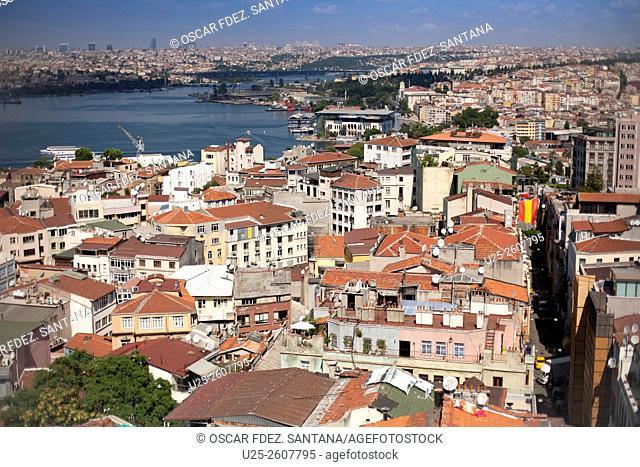 Views from Galata Tower, Istanbul, Marmara, Turkey