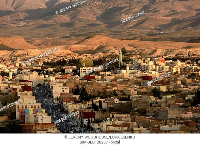 Aerial view of Midelt cityscape, Middle Atlas, Morocco