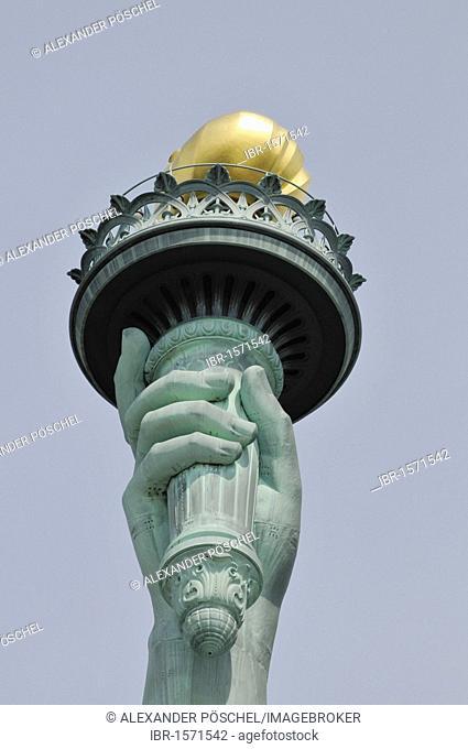 Torch, Statue of Liberty, Liberty Island, New York, USA, United States, North America, America