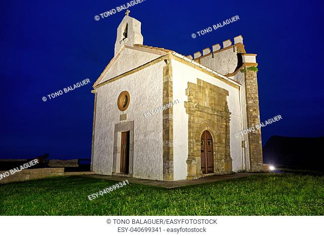 Ermita la Guia hermitage in Ribadesella Asturias of Spain