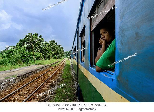 Circle train in Yangon, Myanmar