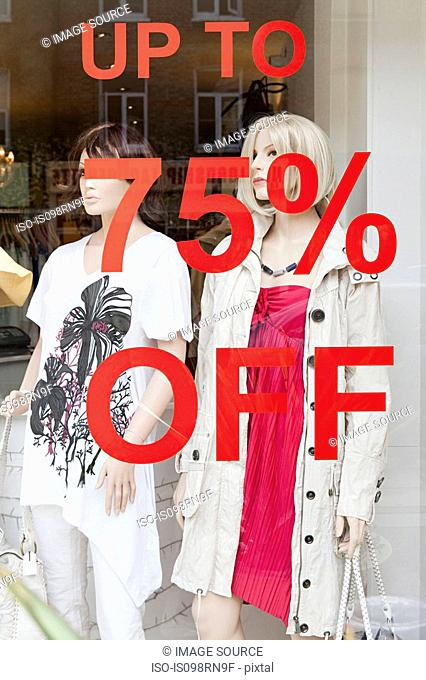 Clothing store with sale