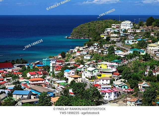 Fishing village of Canaries, St Lucia, West Indies