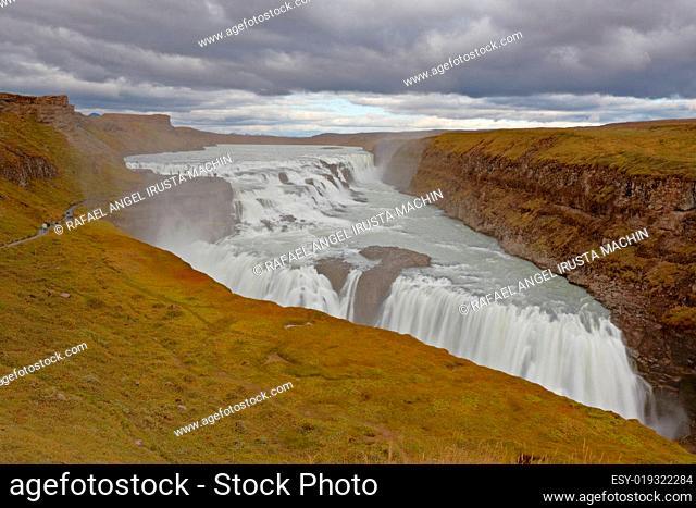 Gullfoss, Golden Waterfalls, Iceland