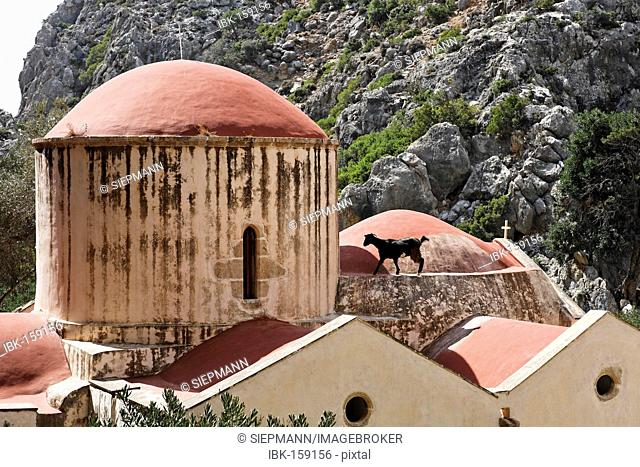 Agios Antonios church in Agiofarango gorge, Southern Crete, Greece