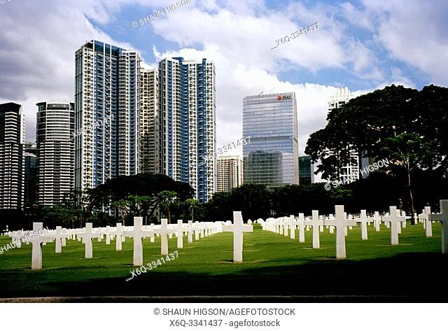 Manila American War Cemetery and Memorial in Bonifacio Global City in Manila in Luzon Metro Manila in the Philippines in Southeast Asia Far East