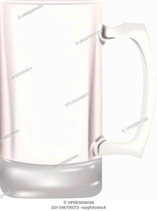 Classic glass empty beer glass. Vector illustration