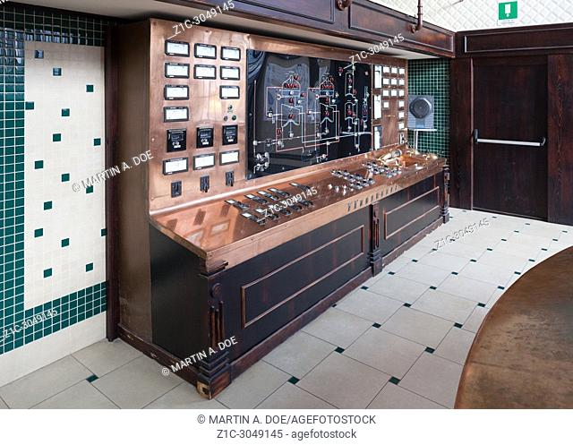 The production control panel in the brewhouse of Birrificio Angelo Poretti (Angelo Poretti Brewery) was built in 1908. The project was designed by Bihl and...
