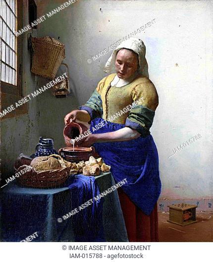 Johannes Vermeer 1632-1674 Dutch painter, The Milkmaid