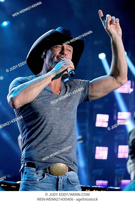 2014 CMA Music Festival Nightly Concert held at LP Field - Day 1 - Performances Featuring: Tim McGraw Where: Nashville, Tennessee