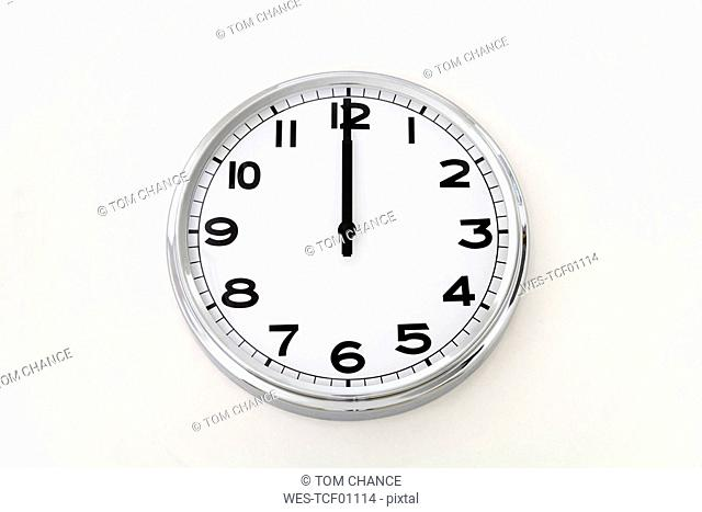 Wall clock, time measurement, close up