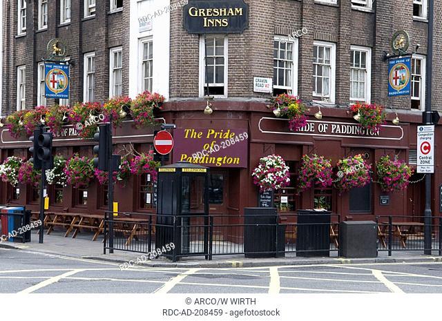 Pub 'The Pride of Paddington', London, England