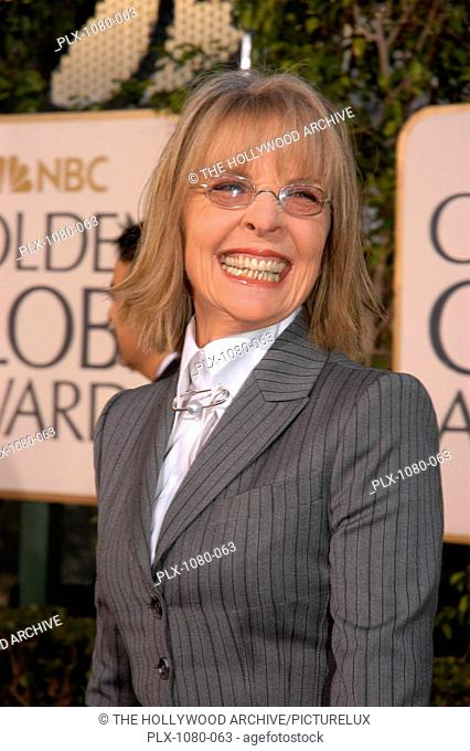 Arrivals at the Golden Globe Awards - 62nd Annual Diane Keaton 1-16-2005