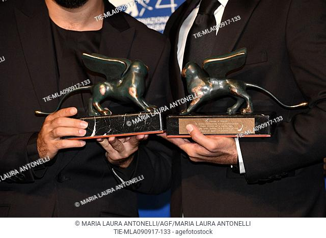 Navid Mohammadzadeh the Orizzonti Award for Best Actor and Vahid Jalilvand the Orizzonti Award for Best director during the Award Winners Photocall of 74th...
