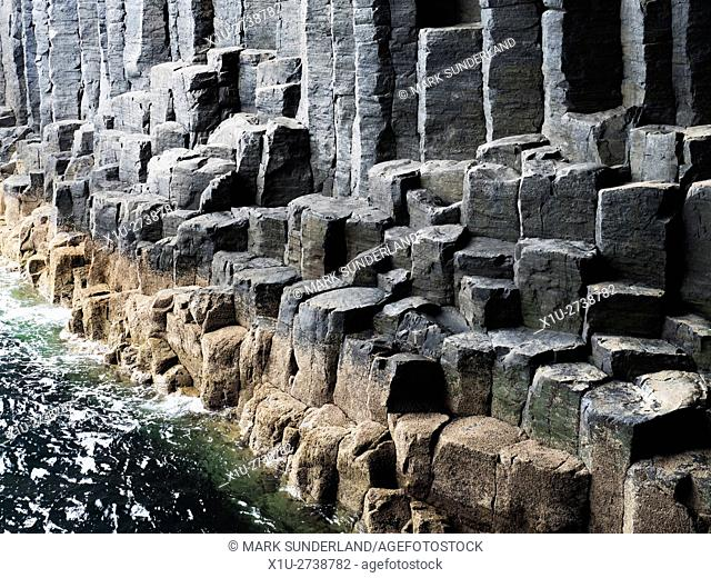 Basalt Columns in the Mouth of Fingals Cave Isle of Staffa Argyll and Bute Scotland