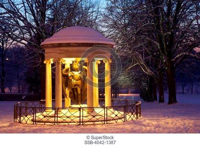 War memorial in a park, Quarry Park, Shrewsbury, Shropshire, England