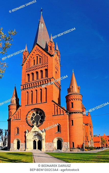 Neo-Romanesque Church of the Annunciation of the Blessed Virgin Mary. Inowroclaw, Kuyavian-Pomeranian Voivodeship, Poland