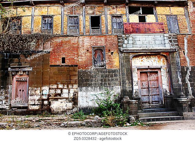 Old house in street, Paithan, Aurangabad, Maharashtra